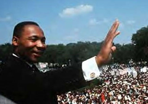Martin Luther King JR in Public