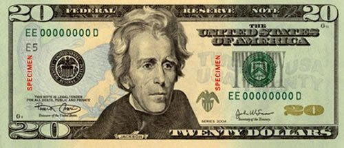 Andrew Jackson money