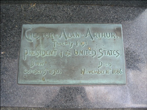 Chester Arthur Plaque