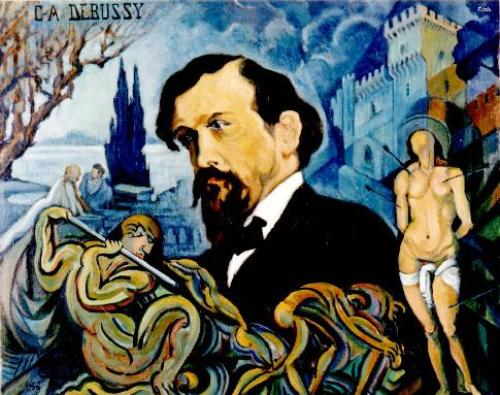 Claude Debussy Painting