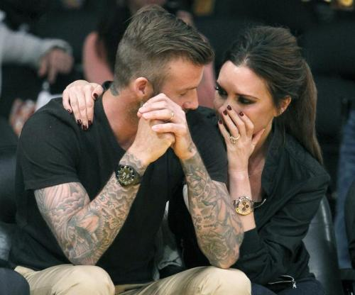 David Beckham and Wife