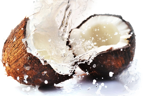 coconut water splash