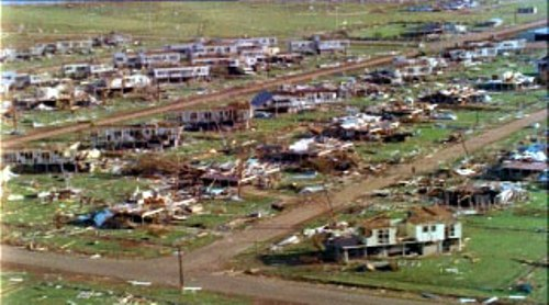 Cyclone Tracy in AUS