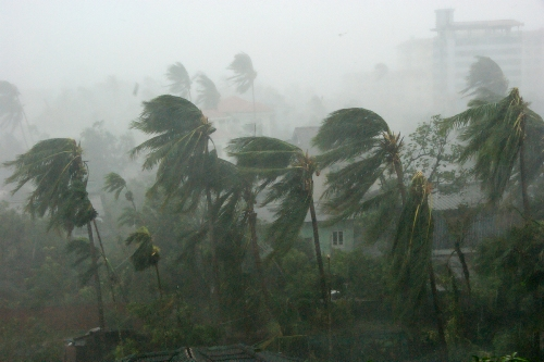 cyclone in Myanmar