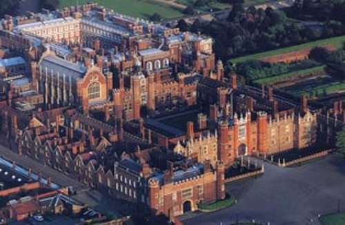 Hampton Court Palace from the top