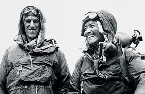 Sir Edmund Hillary and Norgay