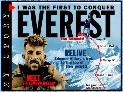 Sir Edmund Hillary for Everest