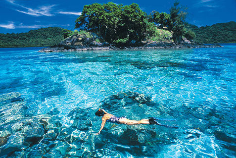 Swimming in Fiji