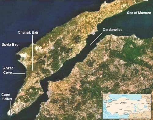 Gallipoli Map
