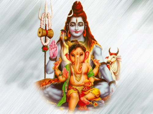Ganesh and Shiva