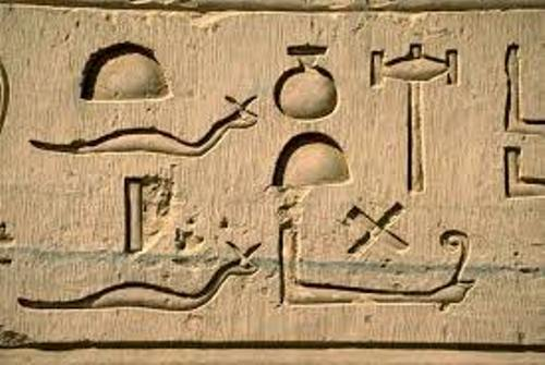 Hieroglyphics on Wall