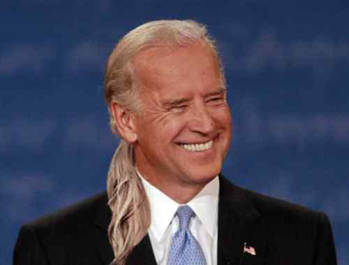 Joe Biden Long Hair