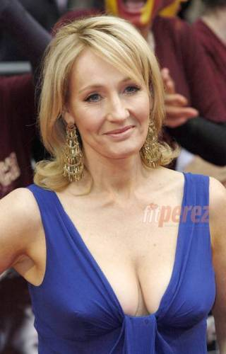 JK Rowling In A Gown