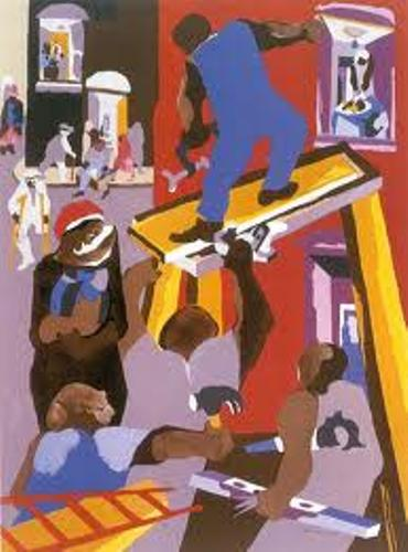 Jacob Lawrence Painting
