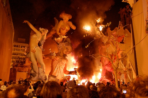 Las Fallas Burned Fire