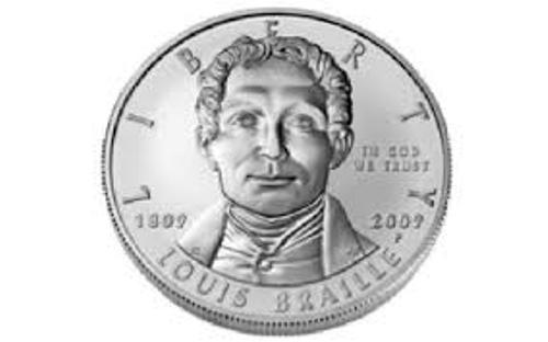 Louis Braille Coin