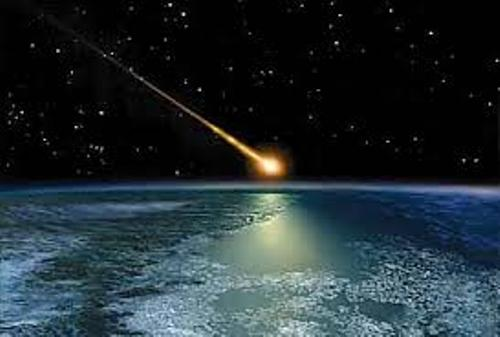 Meteor on Earth