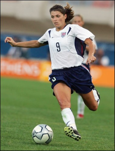 Mia Hamm on Field