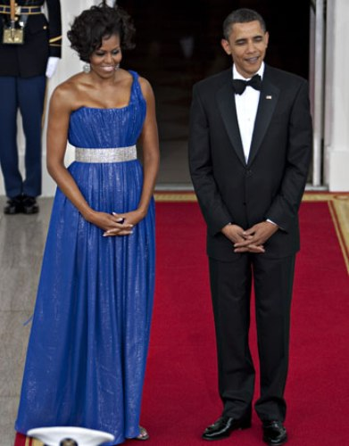 Michelle Obama and Barrack Obama
