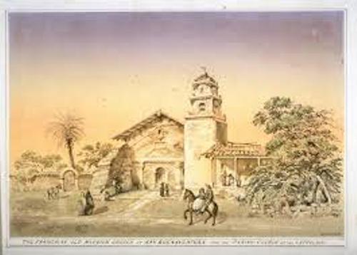 Mission San Buenaventura Old Pic