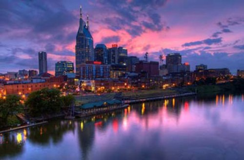 Nashville Tennessee  At Night