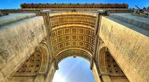 The Arc de Triomphe France
