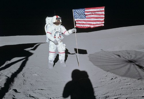 The First Man on The Moon Images