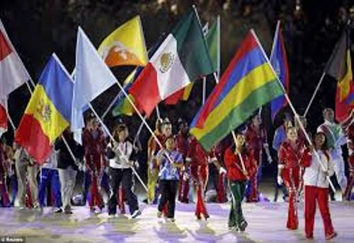 the olympic flag pictures