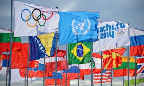 the olympic flag