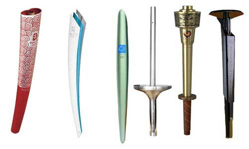 the olympic torches