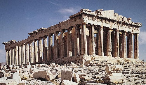 the parthenon ruins