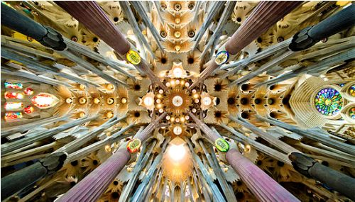 the sagrada familia roof