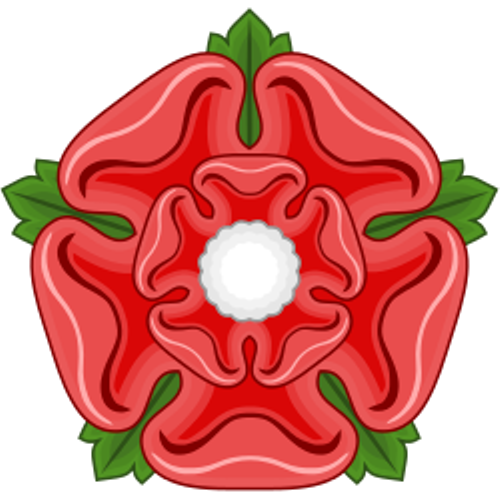 red rose badge